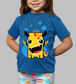 Children, short sleeve, royal blue