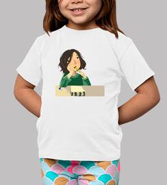 Children, short sleeve, white