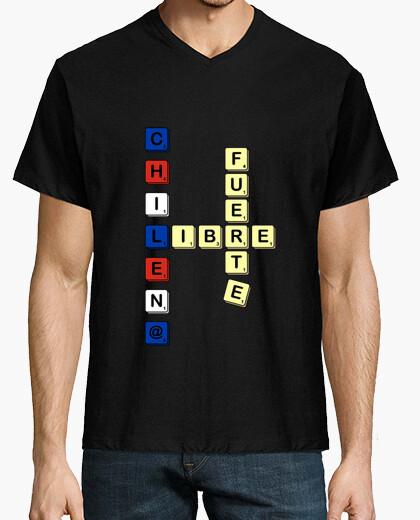 Camiseta Chile Scrabble color
