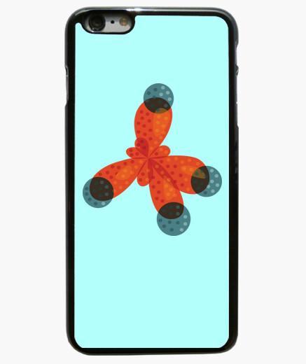 Cover iPhone 6 Plus / 6S Plus chimica amore arancione molecola di metano