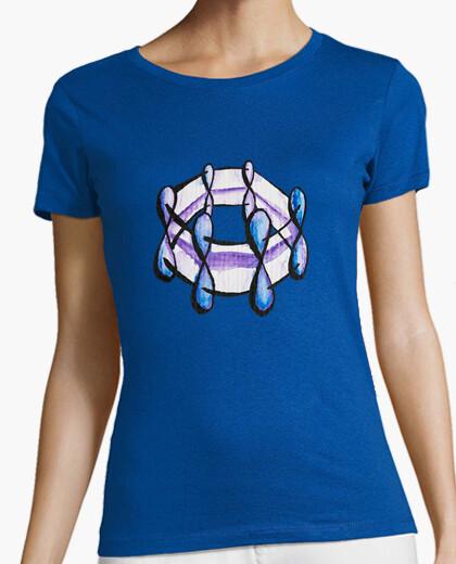 T-shirt chimica organica della molecola del ben