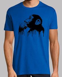 Chimpance pensando