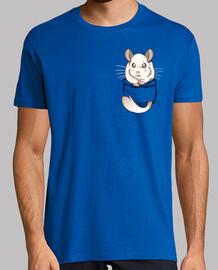 chinchilla blanca linda bolsillo - camisa para hombre