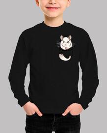 chinchilla blanca linda bolsillo - camisa para niños