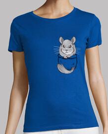 chinchilla gris bolsillo linda - camisa de mujer