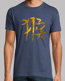 chinese zodiac monkey logo - gold edizione