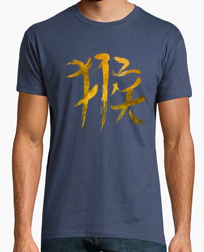 Camiseta Chinese Zodiac Monkey Sign - Gold Edition