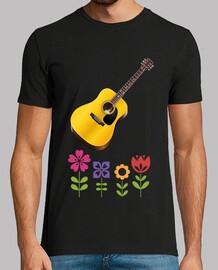 chitarra con fiori