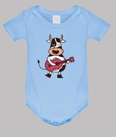 chitarrista mucca