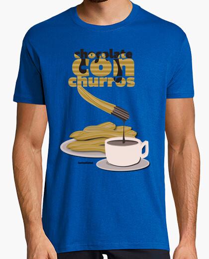 Camiseta chocolate con churros