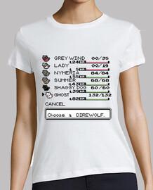 Choose a direwolf -spoiler version- camiseta chica