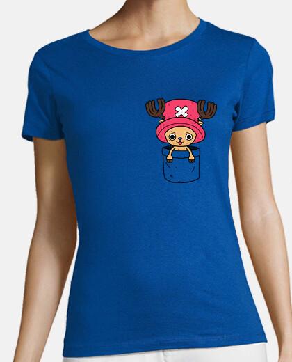 chopper in a pocket girl t-shirt