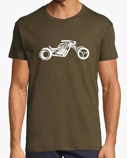 T-Shirt chopper weiß