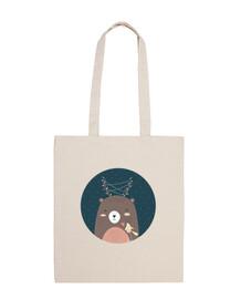 Christmas Bear... Friendship! Cotton Bag