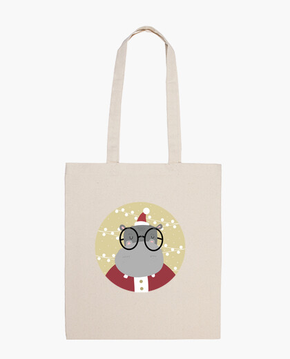 Christmas hyppo - ho ho ho! cotton bag