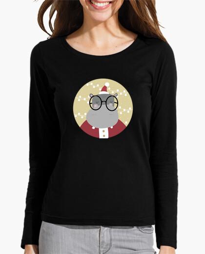 Christmas hyppo - ho ho ho! woman t-shirt