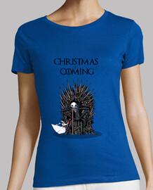 christmas is coming girl t-shirt
