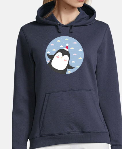 christmas penguin - fly high! woman sweatshirt