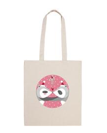 Christmas Raccons... spread your love! cotton bag