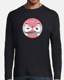 Christmas Raccons... spread your love!man long sleeve t-shirt