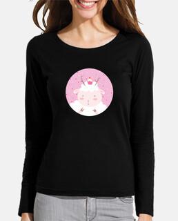 christmas sheep - give yourself tiny pleasures- a woman's long sleeve t-shirt