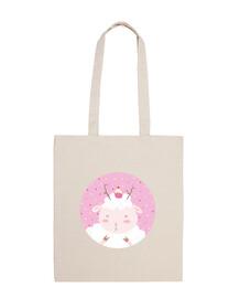 christmas sheep - give yourself tiny pleasures- cotton bag