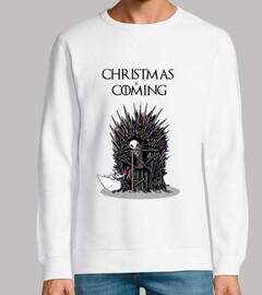 christmas sta coming con cappuccio uomo