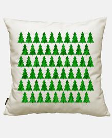 CHRISTMAS TREES GREEN SQUARE