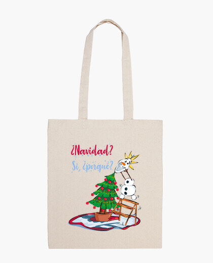 Christmas with snowman bag