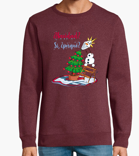 Christmas with snowman hoodie