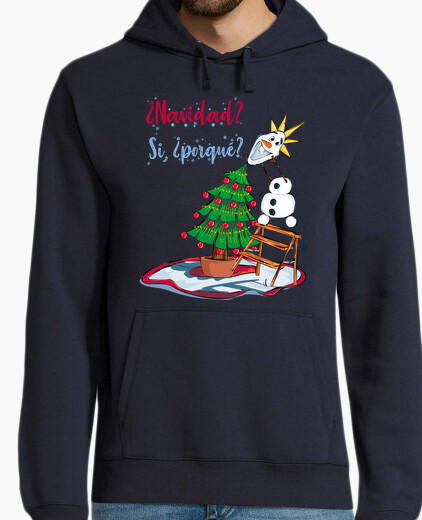 Christmas with snowman hoody
