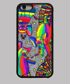 chromatische elefanten, fall für iphone 6.