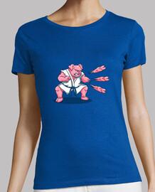 chuletas de cerdo camisa para mujer