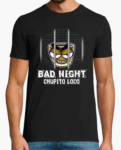 Camiseta Chupito Loco Bad Night Chico Manga Corta