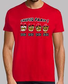 chupito party! uomo manica corta
