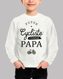ciclista como papá