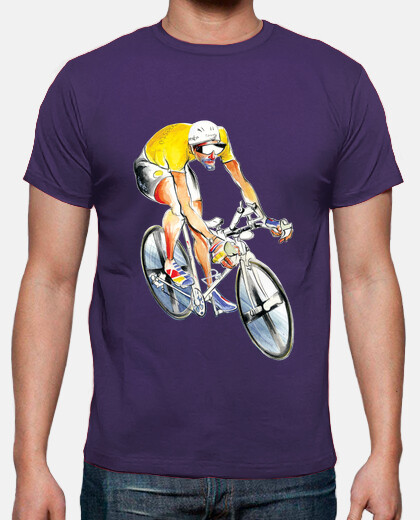 ciclista de jersey amarillo