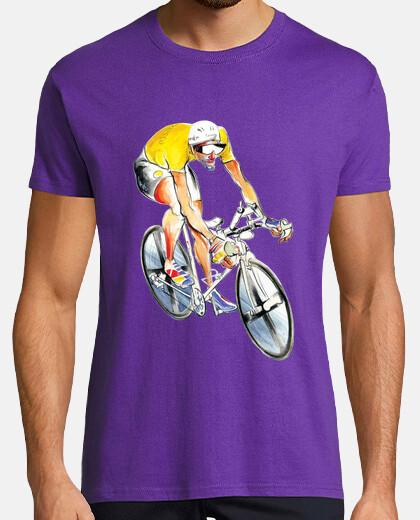 ciclista maglia gialla