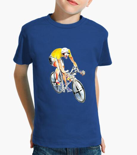 Abbigliamento bambino ciclista maglia gialla