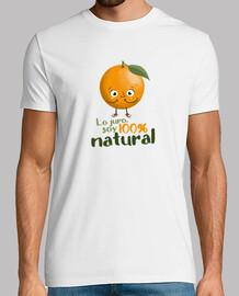 Cien por cien natural - camiseta hombre
