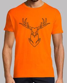 ciervo rojo anaranjado