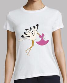cigogne rose