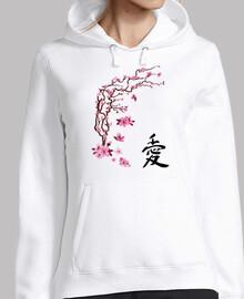 """ciliegio giapponese - scrittura a mano """"amore"""""""