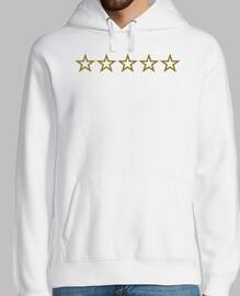 cinco estrellas doradas