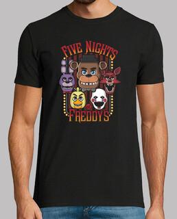 cinco noches de caracteres multi