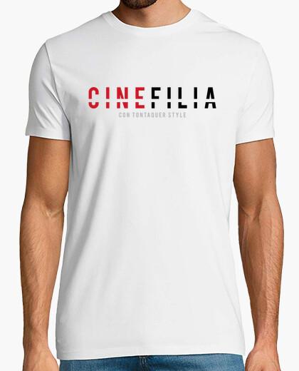 Cinefilia con tontaquer style - CAMISETA BLANCA HOMBRE
