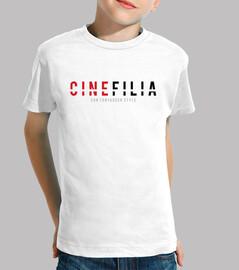 Cinefilia con tontaquer style - CAMISETA BLANCA NIÑO