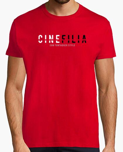 Cinefilia con tontaquer style - CAMISETA ROJA HOMBRE