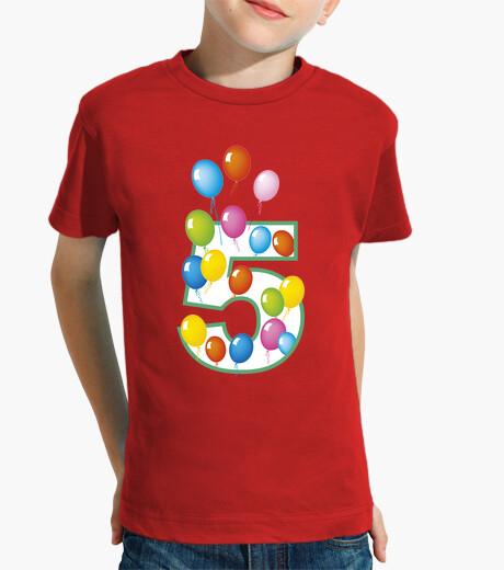 Ropa infantil Cinque anni palloncini