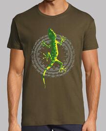 Circle lizard pattern